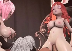 Tera Online futa squirrel gals lose one's heart in the air