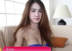 Thai ladyboy blows account round detest to pov